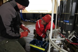 UAF's Pat Rivera, with Nick Delich from the NOAA