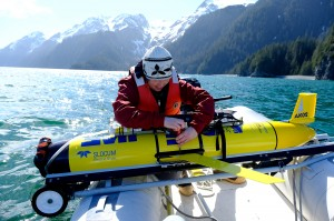 Brita Irving removes wings of AUV